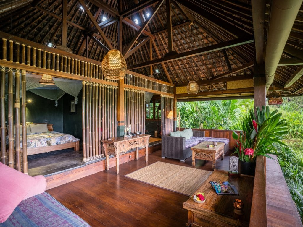 Bungalow In Bali Part - 47: Rice Water Bungalow Living Area Rice Water Bungalow - Terrace ...