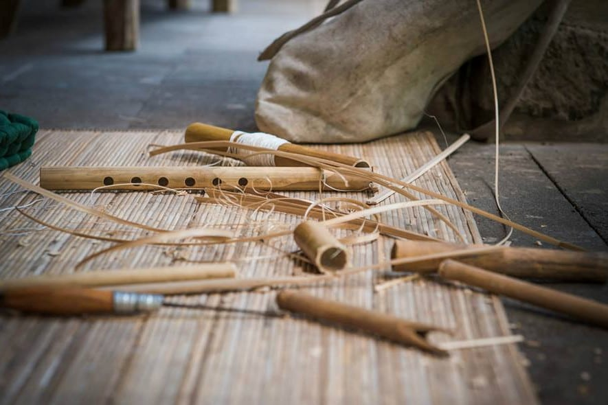 Learning to make tradtional flutes